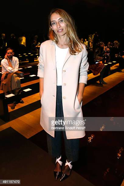 Alexandra Golovanoff attends the Nina Ricci show as part of the Paris Fashion Week Womenswear Spring/Summer 2016 Held at Grand Palais on October 3...