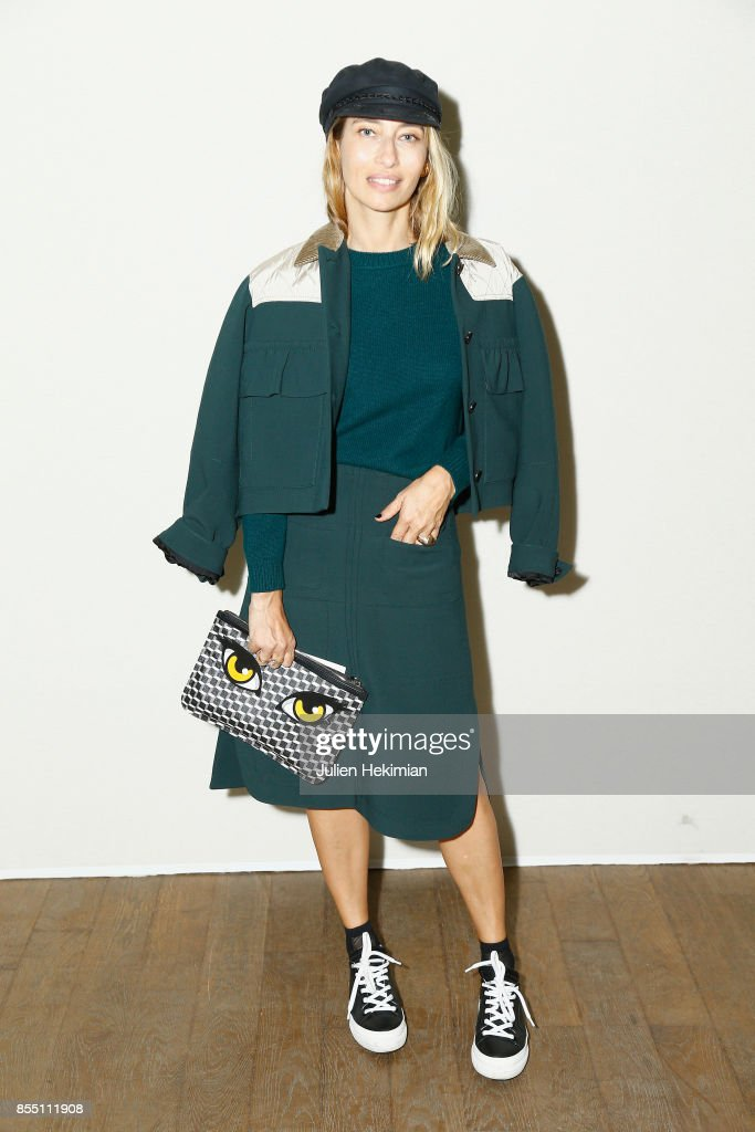 Alexandra Golovanoff attends the Paco Rabanne show as part of the Spring Summer 2018 Womenswear Show at Grand Palais on September 28, 2017 in Paris, France.
