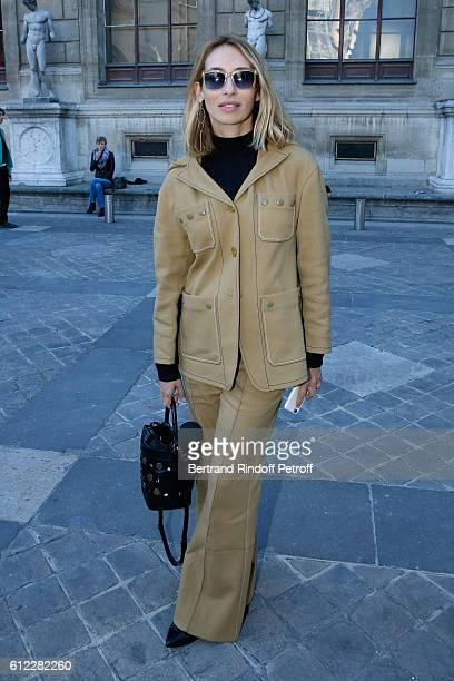 Alexandra Golovanoff attends the Sonia Rykiel show as part of the Paris Fashion Week Womenswear Spring/Summer 2017 on October 3 2016 in Paris France