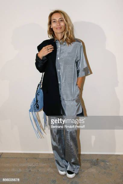 Alexandra Golovanoff attends the Sonia Rykiel show as part of the Paris Fashion Week Womenswear Spring/Summer 2018 on September 30 2017 in Paris...