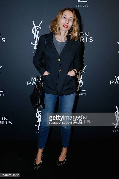 Alexandra Golovanoff attends YSL Beauty launches the new Fragrance 'Mon Paris' at Cafe Le Georges on June 14 2016 in Paris France