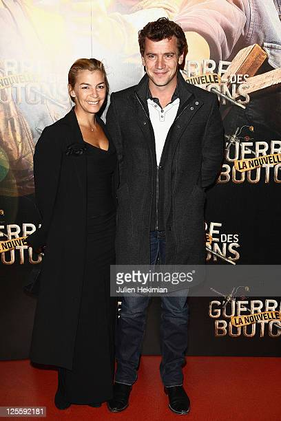 Alexandra Gonin and Gregori Baquet attend 'La Nouvelle Guerre Des Boutons' Paris premiere at Cinema Gaumont Opera on September 18 2011 in Paris France