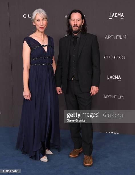 Alexandra Grant and Keanu Reeves arrives at the LACMA Art Film Gala Presented By Gucci on November 02 2019 in Los Angeles California