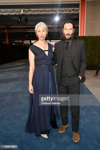 Alexandra Grant and Keanu Reeves attend the 2019 LACMA Art Film Gala Presented By Gucci at LACMA on November 02 2019 in Los Angeles California