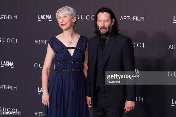 Alexandra Grant and Keanu Reeves attend the 2019 LACMA Art Film Gala at LACMA on November 02 2019 in Los Angeles California
