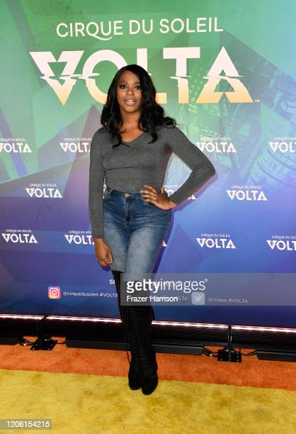 Alexandra Grey attends Cirque Du Soleil VOLTA Equality Night Benefiting Los Angeles LGBT Center at Dodger Stadium on February 13 2020 in Los Angeles...