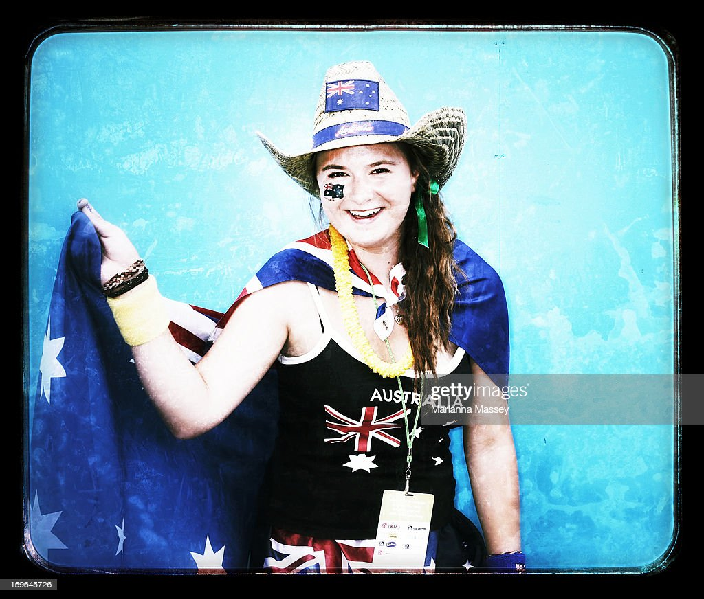 Alexandra Gryak, 17, from Craigieburn attends the 2013 Australian Open at Melbourne Park on January 18, 2013 in Melbourne, Australia.