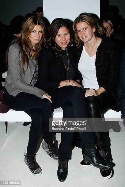 Alexandra HallydayPastor Delphine Pastor and Emilie Pastor attend the Giambattista Valli Spring / Summer 2013 show as part of Paris Fashion Week on...