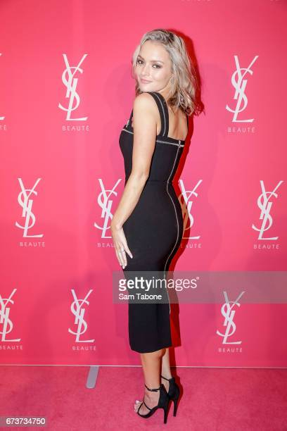 Alexandra Hankel arrives at Meat Market as YSL Beauty Club Takes Over Melbourne on April 27 2017 in Melbourne Australia