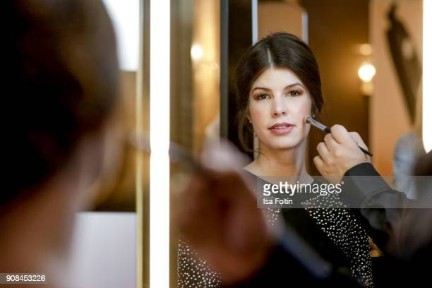 Alexandra Haupt during the Burda Style Lounge on the occasion of the German Film Ball on January 20 2018 in Munich Germany