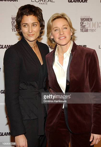Alexandra Hedison and Ellen DeGeneres during 14th Annual GLAMOUR Women of the Year Awards - Red Carpet at American Museum of Natural History in New...