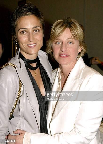 Alexandra Hedison and Ellen Degeneres during 31st Annual Daytime Emmy Awards Creative Arts Presentation Inside at Grand Ballroom at Hollywood and...
