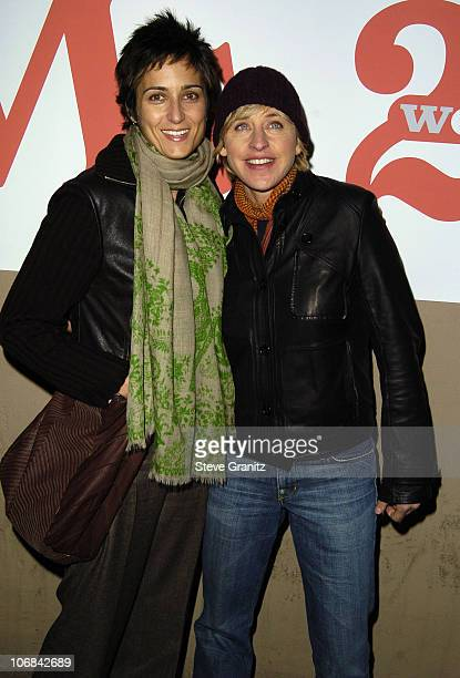 Alexandra Hedison and Ellen DeGeneres during Ms Magazine Celebrates Kathy Najimy as One of its 2004 Women of The Year Arrivals at The Spider Club in...