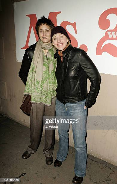 Alexandra Hedison and Ellen DeGeneres during Ms Magazine Celebrates Kathy Najimy as One of its 2004 Women of The Year Red Carpet at Spider Club in...