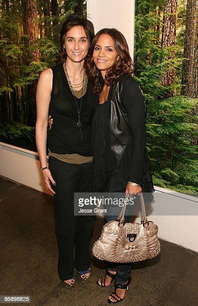 SANTA MONICA CA APRIL 04 Alexandra Hedison and Halle Berry attend Alexandra Hedison's 'ITHAKA' opening at Month Of Photography LA at Frank Pictures...
