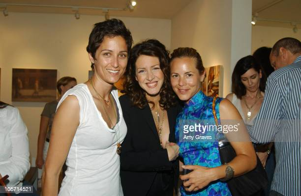 Alexandra Hedison, Joely Fisher and Maria Bello during Alexandra Hedison building Show Opening Reception at White Room Gallery in West Hollywood,...