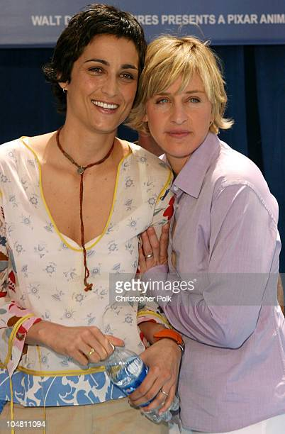 Alexandra Hedison left and Ellen DeGeneres during Finding Nemo Premiere at El Capitan Theater in Hollywood CA United States
