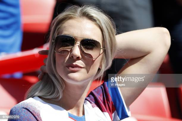 Alexandra Helga Ivarsdottir during the 2018 FIFA World Cup Russia group D match between Argentina and Iceland at the Spartak Stadium on June 16 2018...
