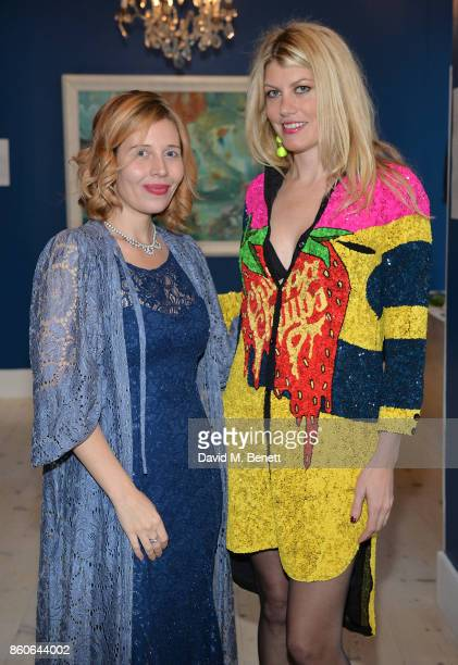 Alexandra Hercolani and Meredith Ostrom attend the Dorothy Circus Gallery 10th anniversary exhibition 'Pages From Mind Travellers Diaries' on October...