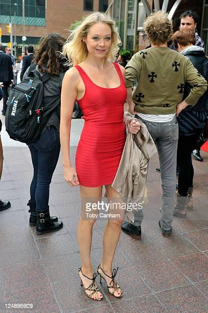 Alexandra Holden seen on the streets of Toronto on September 13 2011 in Toronto Canada
