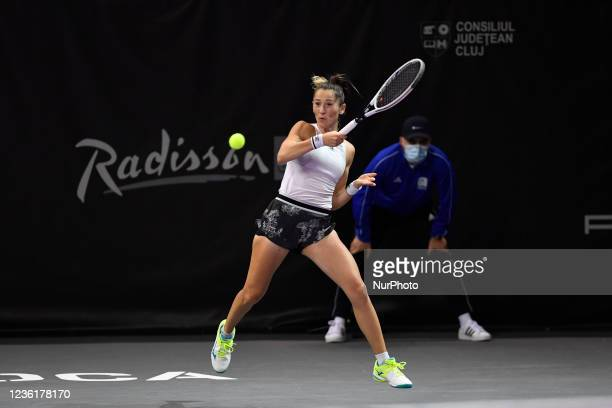 Alexandra Ignatik in action - receiving the ball during her match against Anna-Lena Friedsam on the third day of WTA 250 Transylvania Open Tour held...