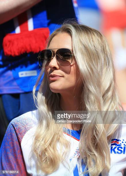 Alexandra Ivarsdottir the partner of Gylfi Sigurdsson of Iceland during the 2018 FIFA World Cup Russia group D match between Argentina and Iceland at...