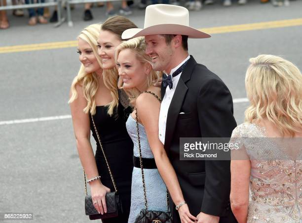 Alexandra Jackson Mattie Jackson Dani Jackson and Ben Selecman attend the Country Music Hall of Fame and Museum Medallion Ceremony to celebrate 2017...