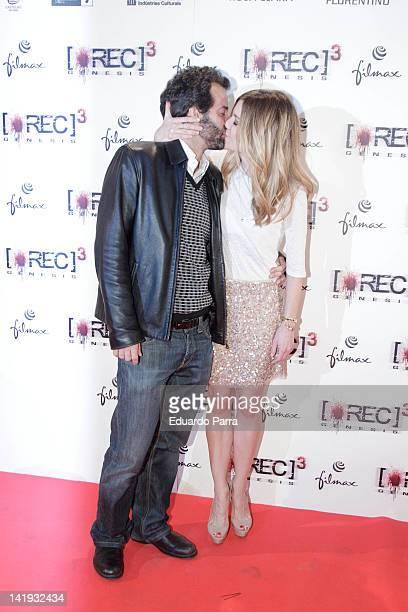 Alexandra Jimenez and boyfriend Luis Rallo attend the 'REC 3 Genesis' premiere at Capitol cinema on March 26 2012 in Madrid Spain