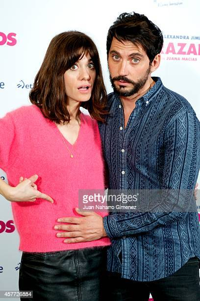Alexandra Jimenez and Paco Leon attend 'Embarazados' photocall at Espacio Mood on October 23 2014 in Madrid Spain