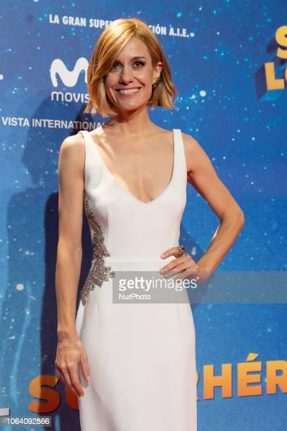 Alexandra Jimenez attend the premiere 'Superlopez' photocall in cinema Capitol de madrid on November 21 2018 in Madrid Spain
