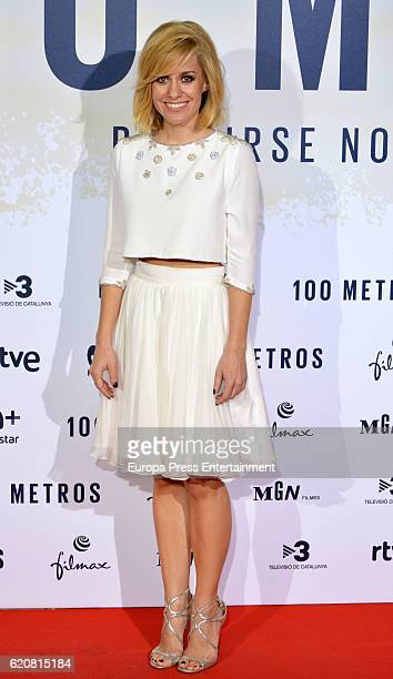 Alexandra Jimenez attends '100 Metros' premiere at Capitol cinema on November 2 2016 in Madrid Spain