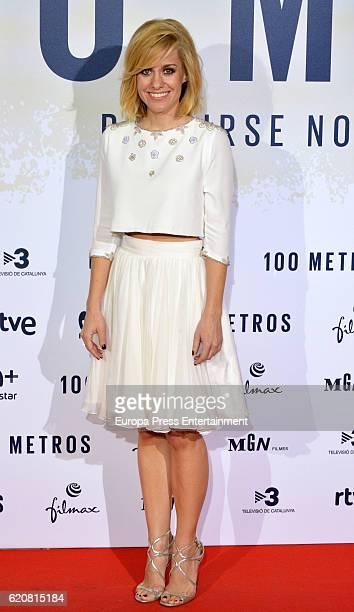 Alexandra Jimenez attends '100 Metros' premiere at Capitol cinema on November 2 2016 in Madrid Spain
