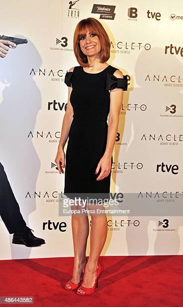 Alexandra Jimenez attends 'Anacleto Agente Secreto' premiere on September 3 2015 in Barcelona Spain
