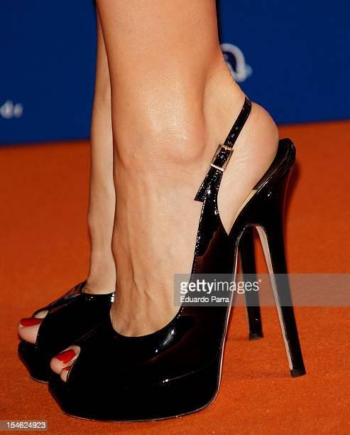 Alexandra Jimenez attends Neox Fan Awards 2012 photocall at La Latina Theatre on October 23 2012 in Madrid Spain