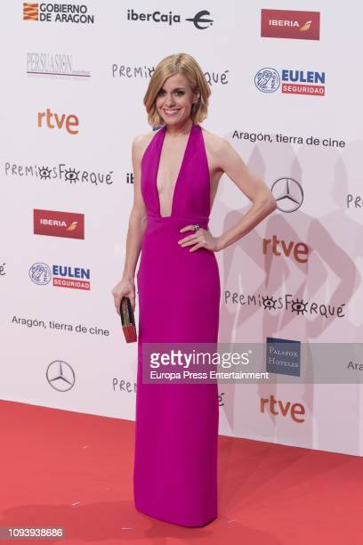 Alexandra Jimenez attends the red carpet during 'Jose Maria Forque Awards' 2019 at Palacio de Congresos on January 12 2019 in Zaragoza Spain
