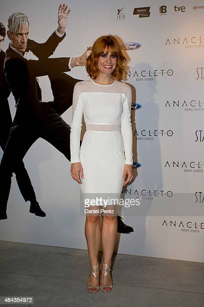 Alexandra Jimenez attends the Spanish premiere of the movie 'Anacleto Agente Secreto' on August 17 2015 in Marbella Spain