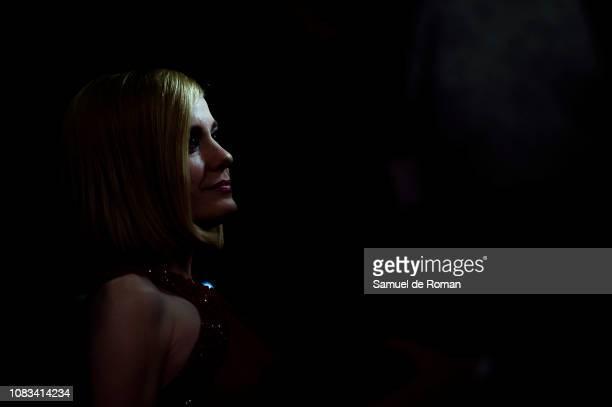 Alexandra Jiménez attends Gente Que Viene Y Bah' Madrid Premiere on January 16 2019 in Madrid Spain