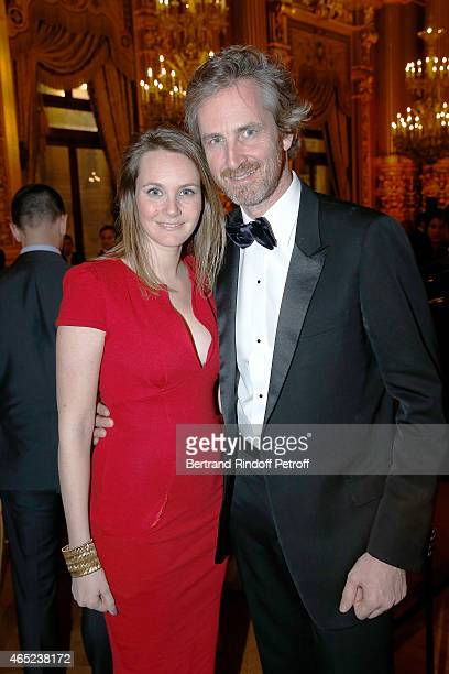 Alexandra Jousset and her brother Frederic Jousset attend Le Chant De La Terre AROP Charity Gala At Opera Garnier In Paris on March 4 2015 in Paris...