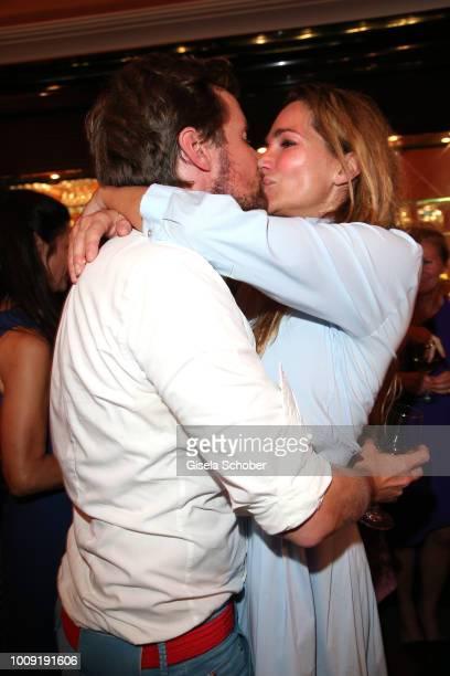 Alexandra Kamp and her boyfriend Michael von Hassel during the premiere of 'Eine MittsommernachtsSexKomoedie' at Komoedie im Bayerischen Hof on...