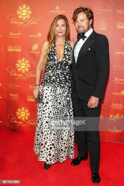 Alexandra Kamp and her partner Michael von Hassel during the 8th VITA Charity Gala In Wiesbaden on October 28 2017 in Wiesbaden Germany