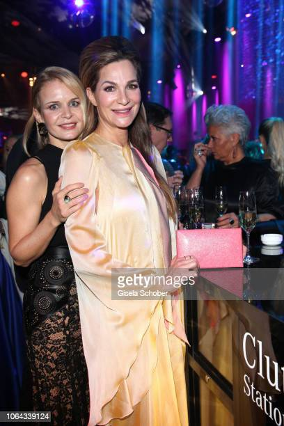 Alexandra Kamp and her sister Patricia Kamp during the Bambi Awards 2018 after party at Stage Theater on November 16 2018 in Berlin Germany