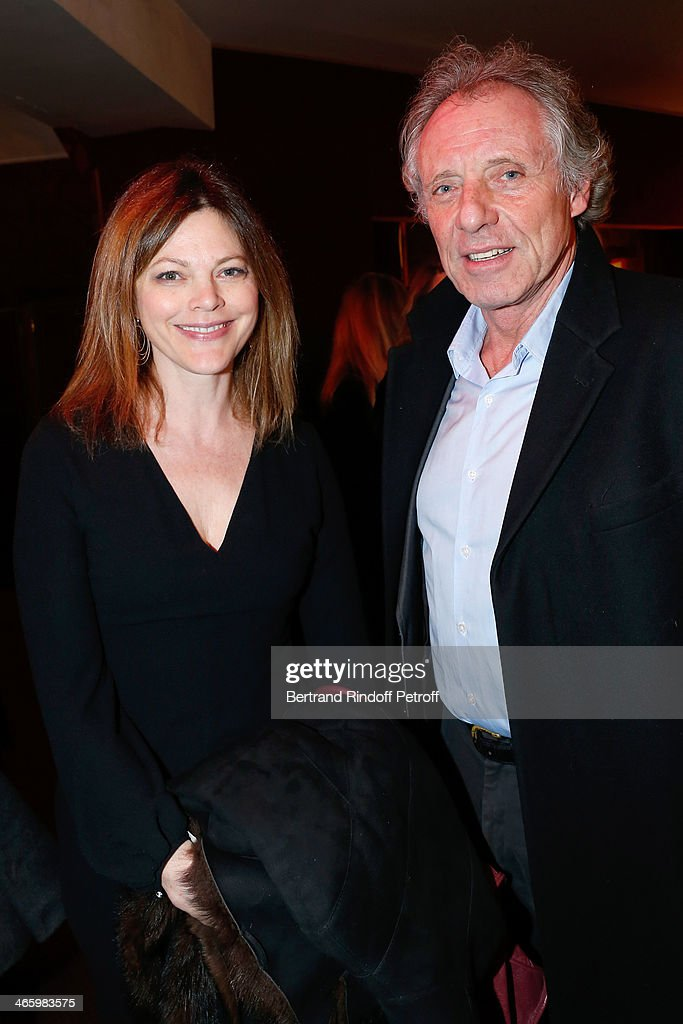 Alexandra Kazan and Francois Bernheim attend 'Un Temps De Chien' - Theater Gala Premiere to Benefit ARSEP Foundation. Held at Theatre Montparnasse on January 30, 2014 in Paris, France.