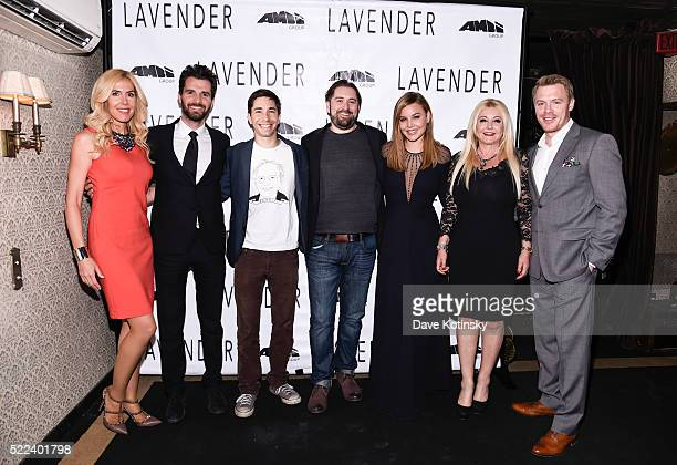 Alexandra Klim Andrea Iervolino Justin Long Ed GassDonnelly Abbie Cornish Lady Monika Bacardi and Diego Klattenhoff attend the LAVENDER afterparty at...