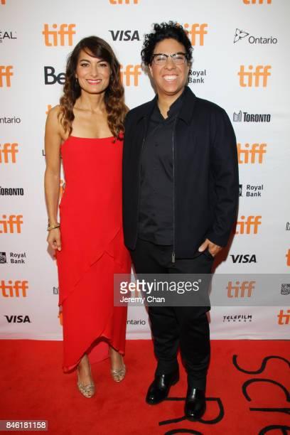 Alexandra Kondracke and Angela Robinson attend the Professor Marston The Wonder Women premiere during the 2017 Toronto International Film Festival at...
