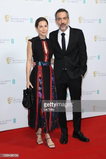 Alexandra Kravetz and Todd Phillips attend the EE British Academy Film Awards 2020 Nominees' Party at Kensington Palace on February 01 2020 in London...