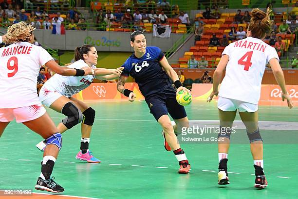 Alexandra Lacrabere of France during the match between France and Spain in the female handball tournament quarterfinal at Future Arena on August 16...
