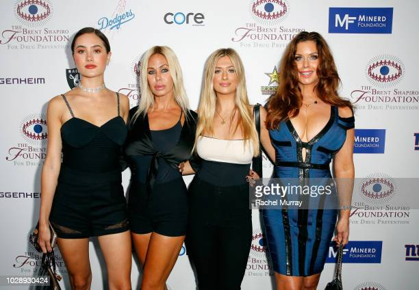 Alexandra Lamas Shauna Sand Isabella Lamas and Carrie Stevens arrive at The Brent Shapiro Foundation Summer Spectacular at The Beverly Hilton Hotel...