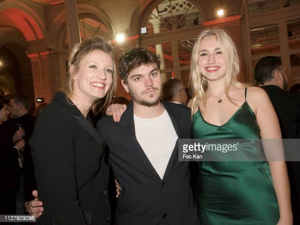 Alexandra Lamy actor Zacharie Chasseriaudand his girl friend Chloe Jouannet attend the 26th 'Trophees Du Film Francais' Photocall at Palais...