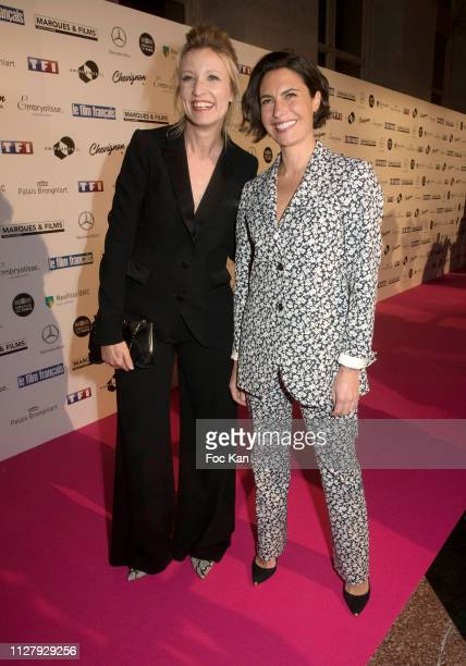Alexandra Lamy and Alessandra Sublet attend the 26th 'Trophees Du Film Francais' Photocall at Palais Brongniart on February 05 2019 in Paris France