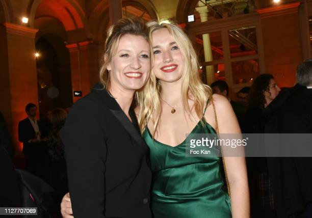 Alexandra Lamy and Chloe Jouannet attend the 26th 'Trophees Du Film Francais' Photocall at Palais Brongniart on February 05 2019 in Paris France